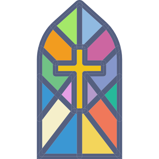 Cathedral, Religious, Church, Religion, Christian, Stained Glass Icon