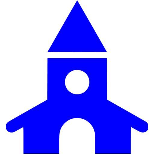 Blue Church Icon
