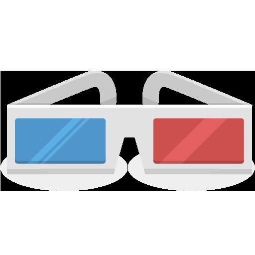 D Glasses Icon Cinema Iconset Ergosign