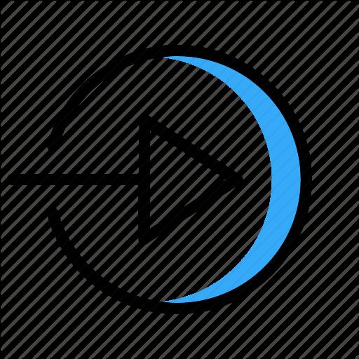 Arrow, Blue, Circle, Right, Right Arrow Icon