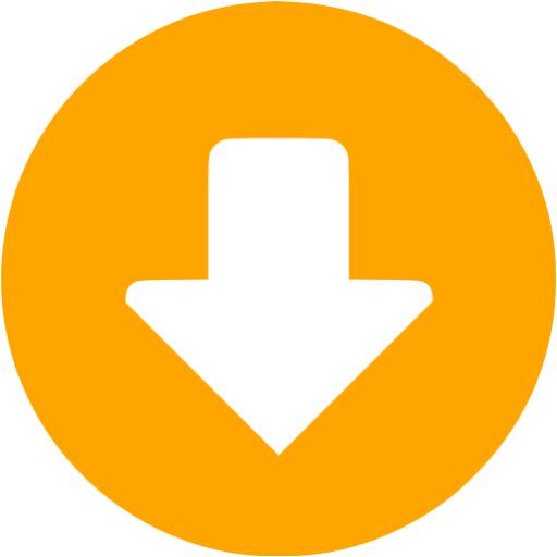 Orange Down Circular Icon