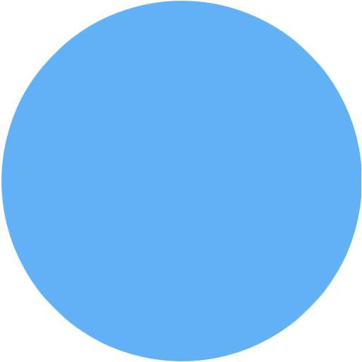 Tropical Blue Circle Icon