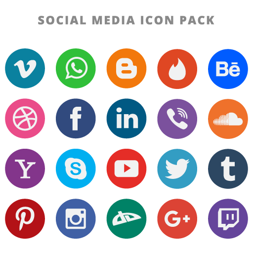 Social Media Icons Vector Free Download