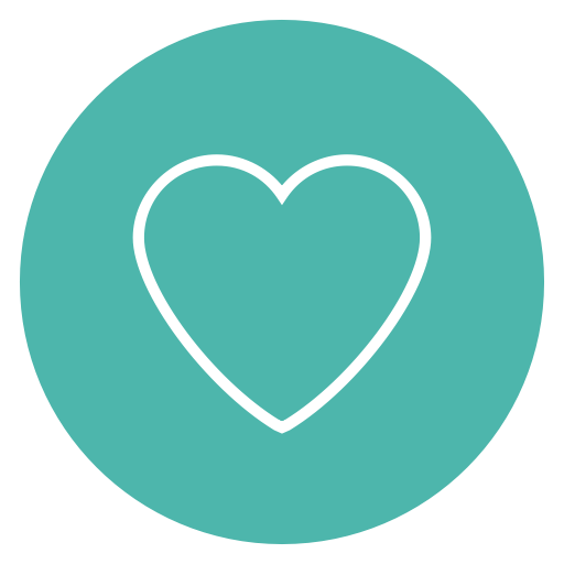 Circle, Content, Favorite, Heart, Love Icon