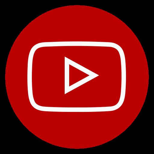 Circle, Outline, Youtube Icon