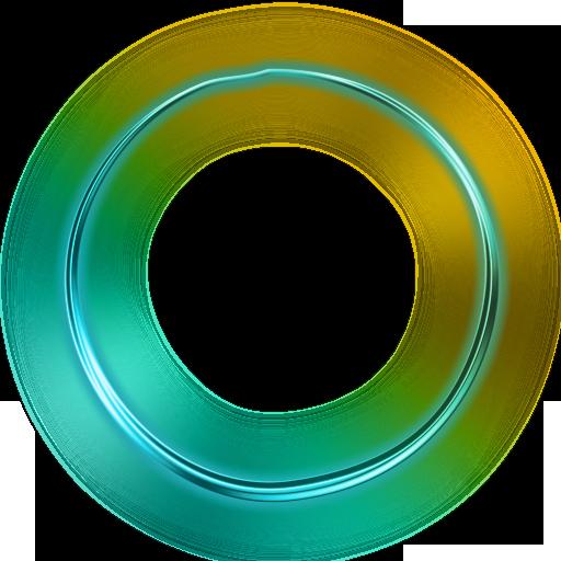 Green Glowing Circle Icon