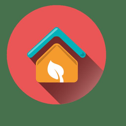 House Leaf Circle Icon