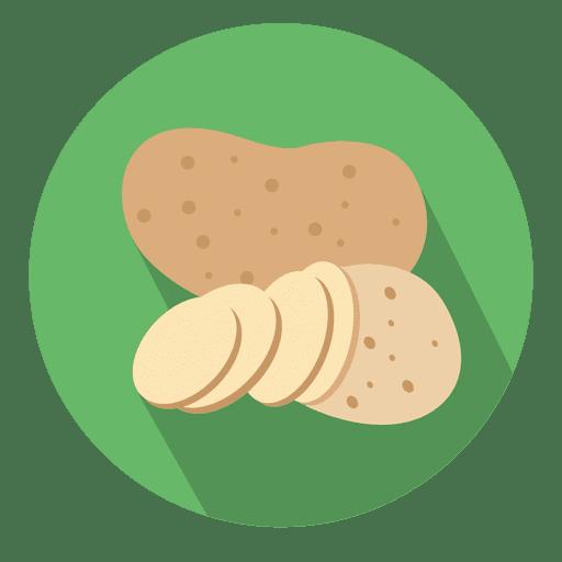 Potato Circle Icon