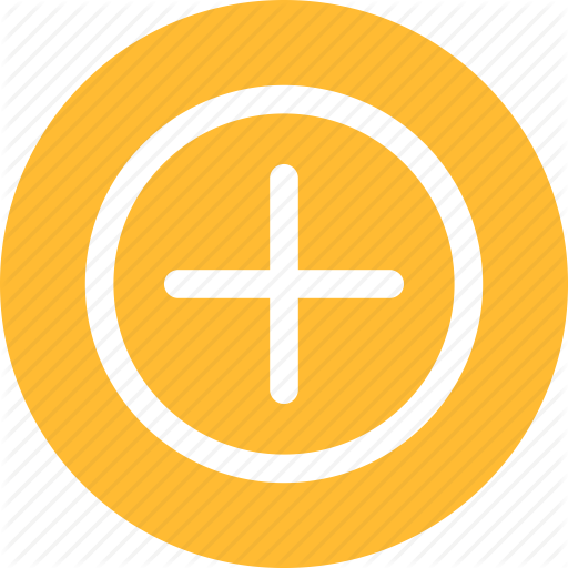 Add, Circle, Linecon, More, Plus, Round, Yellow Icon