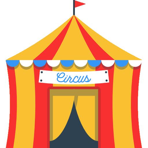 Circus Icon Building Collection Freepik