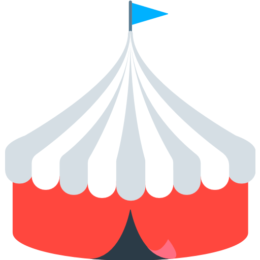 Circus Tent Emoji For Facebook, Email Sms Id