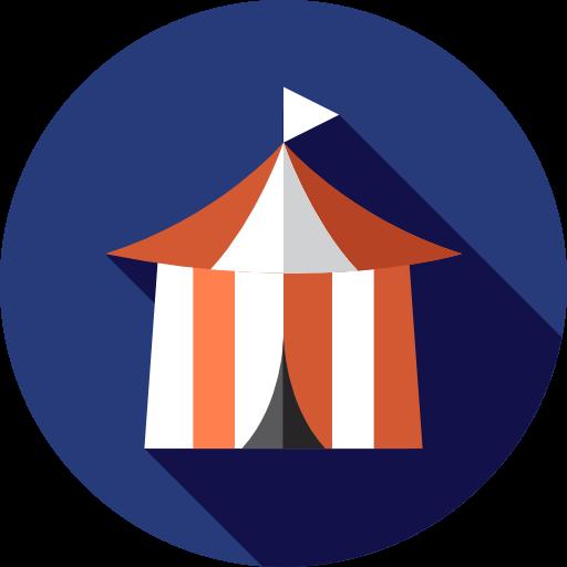 Entertaining, Circus, Tent, Entertainment, Leisure Icon