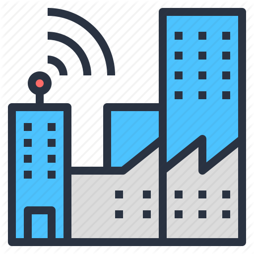 Building, City, Ict, Internet, Modern, Smart Icon