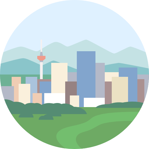 City, Nature, Landscape, Scenery, Cityscape Icon