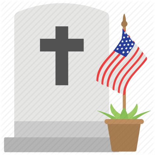 American Flag, Christian Grave, Confederate Memorial Day, Cross