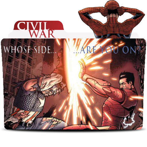 Marvel Civil War Comics Folder Icon