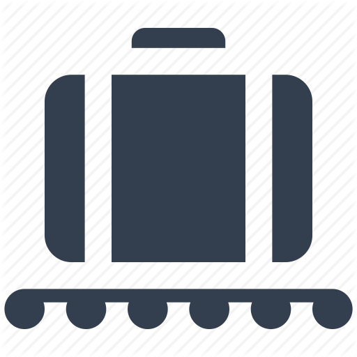 Airport, Bag, Claim, Luggage, Wheel Icon