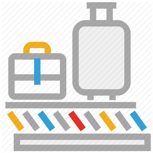 Airport, Baggage Belt, Baggage Claim Belt, Baggage Sorting Icon