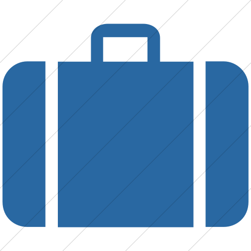 Simple Blue Aiga Baggage Claim Icon
