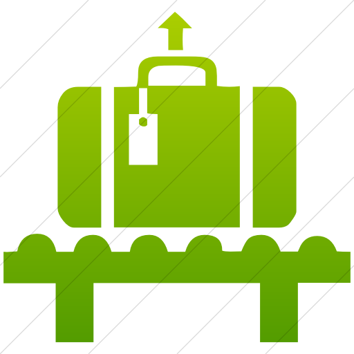 Simple Green Gradient Classica Baggage Claim Icon
