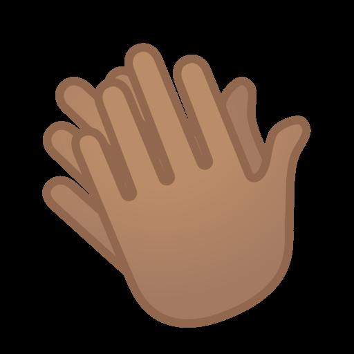 Clapping Hands Medium Skin Tone Icon Noto Emoji People Bodyparts