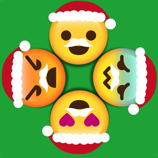 Christmas Emoji Circle Wheels Become A Symbol Icons Art