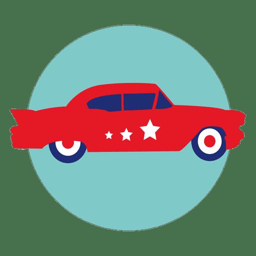 Police Car Round Icon