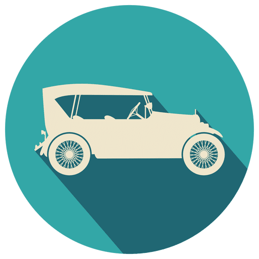 Vintage Car Circle Icon