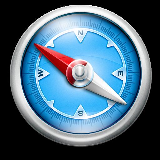 Blue Classic Icon Safari Iconset Pixelresort