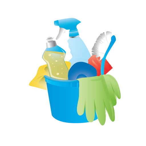 Bucket, Cleaning, Janitor, Rubber Gloves Icon