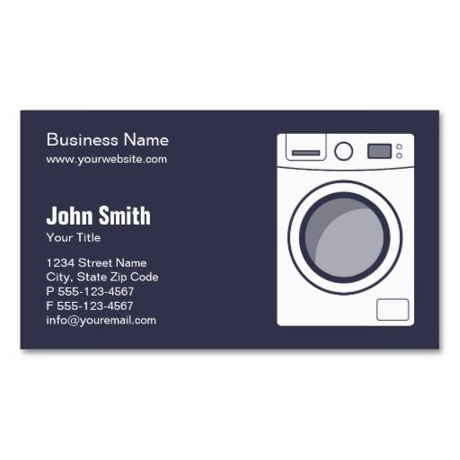 Washing Machine Business Cards
