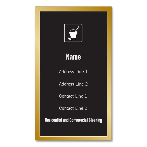 Cleaning Service Icon Business Card Maid Services Business Cards