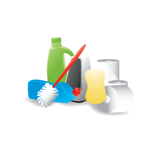 Materials, Janitor, Cleaning Icon