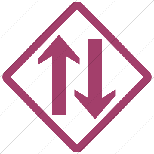 Simple Pink Classica Two Way Traffic Clear Icon