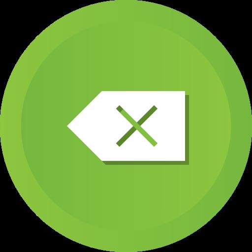Backspace, Delete, Remove, Clear, Clean, Erase Icon