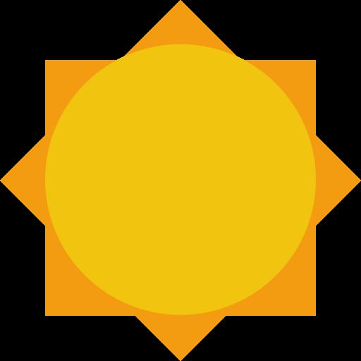 Sun Icon Small Flat Iconset Paomedia