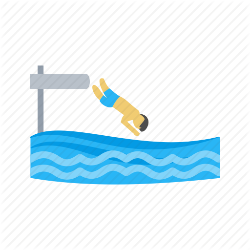 Adventure, Cliff, Jump, Jumping, Lake, Summer, Water Icon