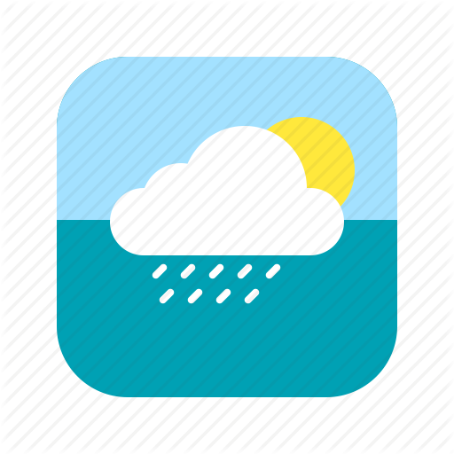 App, Application, Climate, Heat, Mobile, Rain, Weather Icon