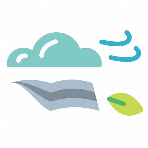 Breeze, Climate, Weather, Windy Icon