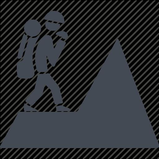 Climb, Climber, Mountain, Rock Climbing Icon