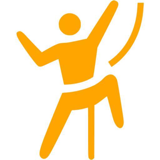 Orange Climbing Icon