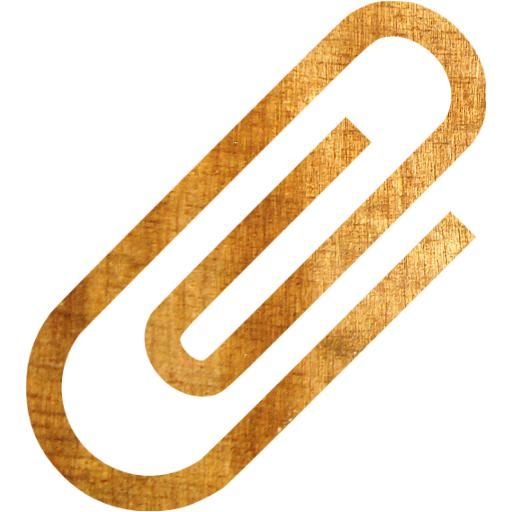 Light Wood Paper Clip Icon