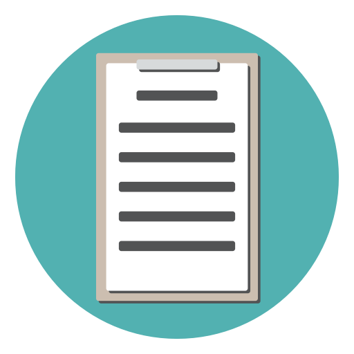 Clipboard, Document, Form, Survey, Checklist, Tracklist Icon