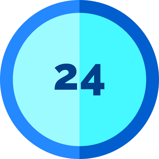 Hours, Service, Clock Icon