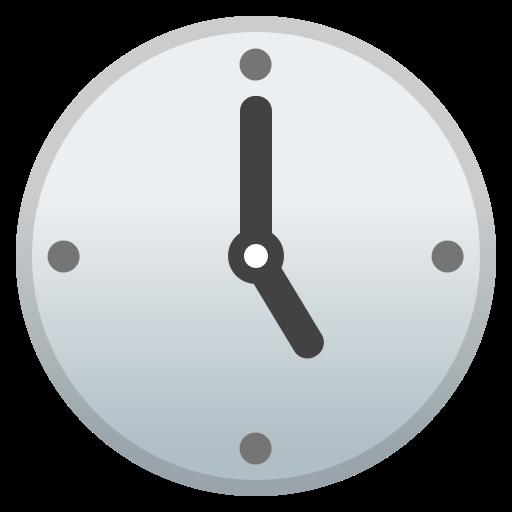 Five, O, Clock Icon Free Of Noto Emoji Travel Places Icons