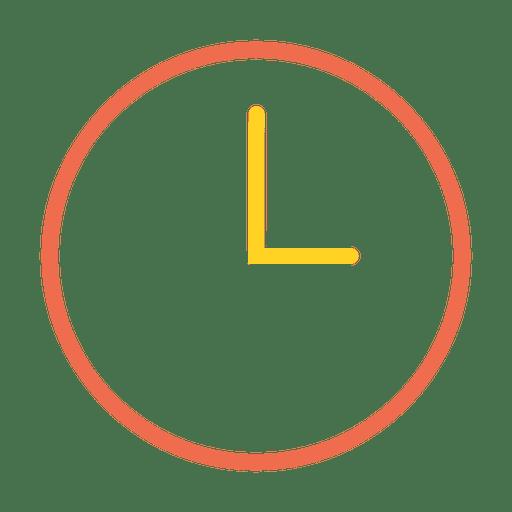 Time Clock Stroke Icon