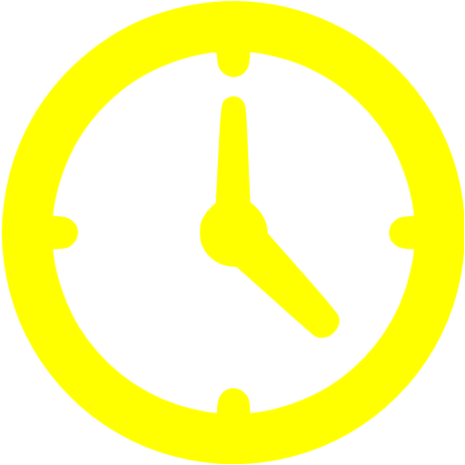 Yellow Clock Icon
