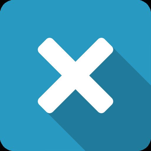 Blue, Exit, Close, X, Cross, Shadow Icon