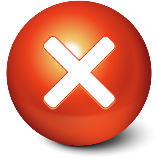 Close, Ball, Stop, Cute, No, Cancel Icon