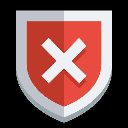 Shield Error Icon Small Flat Iconset Paomedia